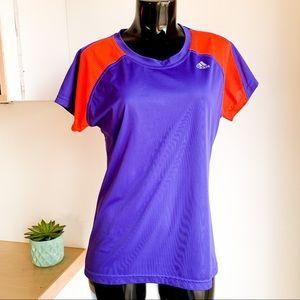 ADIDAS Climalite athletic purple neon orange top